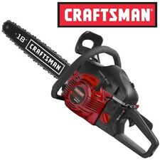 """NEW Craftsman 18"""" 42cc Gas Engine Chainsaw 2 Cycle + Case Cut Tree Branches Wood"""