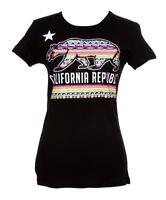 Womens California Republic Tribal Bear Short-Sleeve T-Shirt