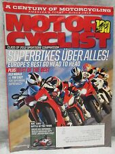 Motor Cyclist Motorcyclist Magazine August 2012 Ducati 851 Superbike Motorcycle