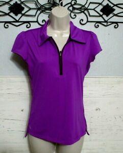 Athleta Activewear Top Size XS Short Sleeve Purple