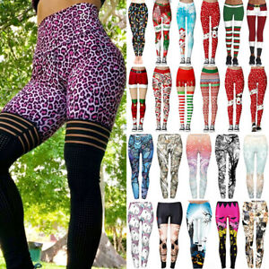 Push Up Yoga Pants Women High Waist Sport Leggings Fitness Gym Exercise Trousers