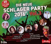 DIE NEUE SCHLAGERPARTY,VOL.3 (2016) 3 CD NEU JÜRGEN DREWS/WOLFGANG PETRY/MARRY/