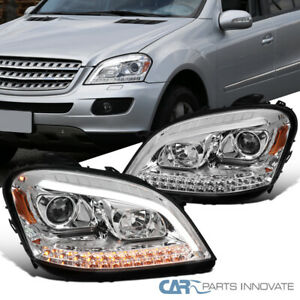 For 06-08 Benz W164 ML350 ML500 LED Sequential Projector Headlights Turn Signal