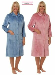 Ladies Women's Marlon Soft Feel Heart Embossed Full Sleeve Night Gown size 8-26