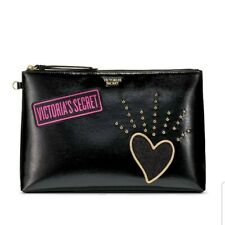 AUTHENTIC VICTORIA'S SECRET BEAUTY POUCH ( MAKE UP COSMETIC BAG) - BLACK PATCH