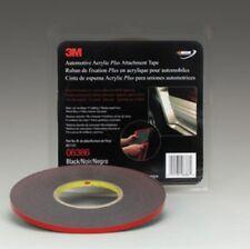 """Automotive Acrylic Plus Attachment Tape 06386, Black, 1/4"""" X 20 Yds, 45 mil"""