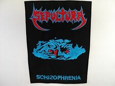SEPULTURA   schizophrenia  EMBROIDERED BACK PATCH