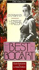"Vhs Box Set ~""The Best Of Bogart"" Casablanca, The Maltese Falcon Cbs Video Club"