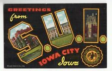 [48349] Old Large Letter Postcard Greetings From State University Of Iowa (Sui)