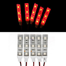 2x red 5cm LED Light strip 12V Car Courtesy stereo Glove box under dash