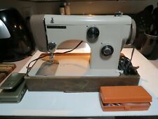 Vintage Riccar Tan Sewing Machine W/ Foot Pedal & Accessories, Very Good Cond.