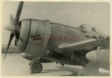 *WWII photo- P 47 Thunderbolt Fighter plane Nose Art - DROOPY DRAWERS*
