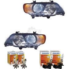 Headlight Set BMW X5 E53 99-03 with Flasher White H7 +HB3 incl. Lamps 1368114