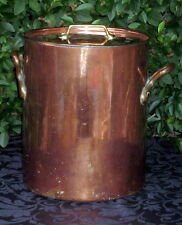 Énorme 11ltr dehillerin PARIS FRENCH COPPER MARMITE 2.5 mm Copper