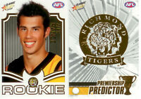 2008 Select AFL Classic Predictor+Draft Rookie Card PDR12 Alex Rance (Richmond)