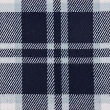 Bekleidungsstoff Karostoff Schottenkaro kariert dunkelblau hellblau weiß