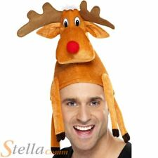 Adult Men Ladies Unisex Christmas Reindeer Hat Xmas Party Fancy Dress Accessory