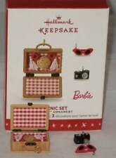 2016 Hallmark Picnic Set Barbie Ornament Limited Edition 3 Miniatures (New)
