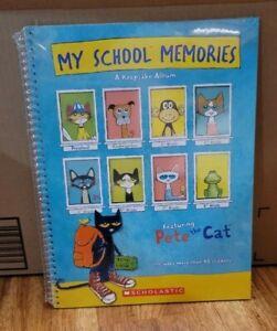 Pete The Cat My School Memories Keepsake Album Spiral Book Scholastic Sealed New