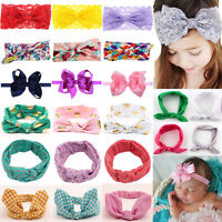 Baby Toddler Girl Kids Bunny Rabbit Bow Knot Turban Headband Headwrap Headdress