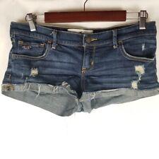 Hollister Distressed Dark Wash Denim Jean Shorts Size 7