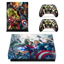 Xbox one X Console Vinyl Skin Marvel Comic The Avengers Decal Sticker Cover Set