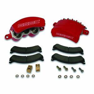 1999-06 GM 2500/3500 SSBC Quick Change Three Piston Front Caliper Kit (red)