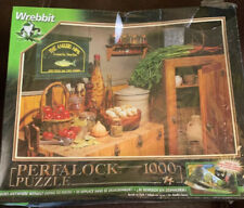 "NIB Vintage PERFALOCK PUZZLE 1000 Pieces WREBBIT Sealed ""COUNTRY COOKING"""