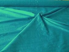 "HANDLOOM 100% SILK DUPION 54"" wide TURQUOISE BY HALF MT"