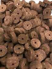 "Cork Rings 12 Large Burnt Burl 1 1/2"" X 1/2"" X 1/4"" Hole"