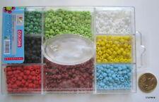 Perlas cristal rocalla X 3 CAJAS - 2400 UNIDADES 4 mm 8 colores mate abalorios