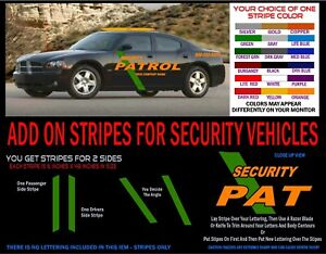SECURITY VEHICLE STRIPE Decal Kit - Add to existing lettering - FREE SHPN