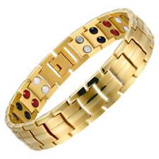 Gold Magnetic Bracelet for men women 4 Elements Energy Arthritis Pain relief