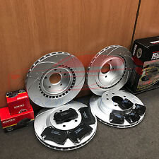 FOR NISSAN 350Z G35 FRONT REAR KINETIX DIMPLED GROOVED BRAKE DISCS MINTEX PADS