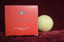 "AVON, LIGHT DANCES OFF THE GLITTER ON THIS SCENTED BALL CANDLE, 4"" X12"" OD"