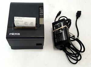 Epson Micros TM-T88IV POS Thermal Receipt Printer Serial M129H
