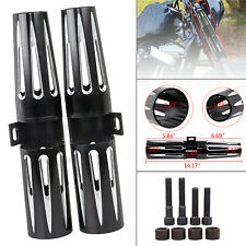 Motorcycle Fork Shrouds Boots Covers Shock Slider Narrow For Harley XL883 1200