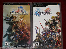 *Complete* PSP FF DISSIDIA + FINAL FANTASY TACTICS: THE WAR OF THE LIONS English