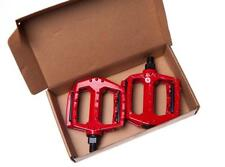 "XERAMA Pair of Alloy RED MOUNTAIN BIKE PEDALS 1/2"" (Large) MTB, BMX Platform"