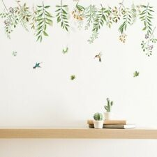 Décor Wall Sticker Removable Mothproof Toilet door Pvc Leaves Plant Nursery