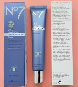 Lift and Luminate Triple Action Serum - Boots No7 Large 1x 50ml 100% Genuine