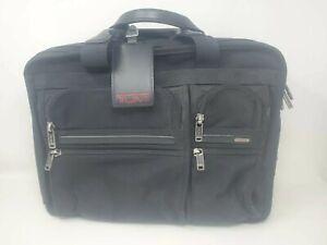TUMI Alpha 2inch Expandable Laptop Organizer Black Business Brief 26141D4