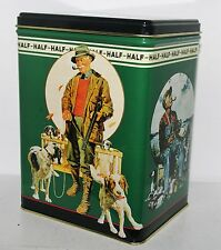 HALF and HALF 1995 Pipe Tobacco Hunting Dog Fly Fishing Duck Decoy Tin Container