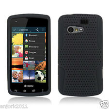 Kyocera Rise C5155 Sprint Virgin Mesh Hybrid Case Skin Cover Black
