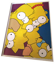"SIMPSONS FOX TV SHOW MINI POSTER 2007 14""X10 1/2"" FAMILY PUZZLE MOSAIC DESIGN"