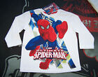 Marvel Spiderman Boys White Printed Long Sleeve T Shirt Size 2 New