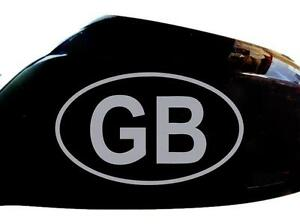GB Car Stickers Wing Mirror Styling Decals (Set of 2), Silver