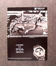 [GCG]  M635 - Advertising Pubblicità -1996- TAG HEUER , SFIDA MENTALE