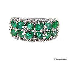 emerald diamond wide 925 band ring 1.90-carats anniversary birthday birthstone