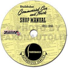 Studebaker Truck Shop Manual CD 1941 1942 1946 1947 1948 Pickup Big Truk Service